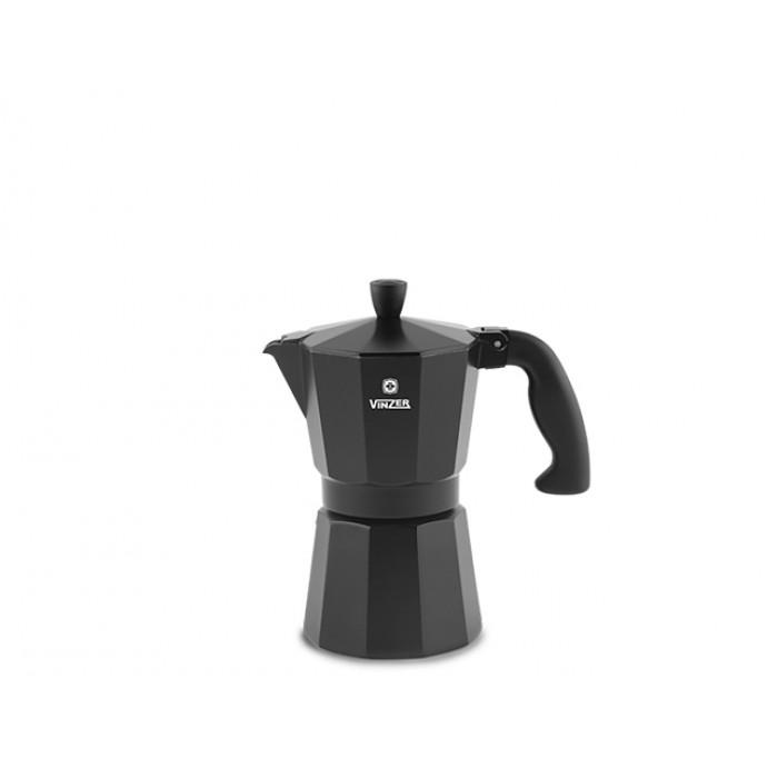 Гейзерная кофеварка Vinzer Moka Nero на 3 чашки (89394)