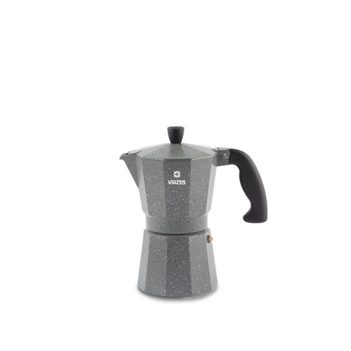 Гейзерная кофеварка Vinzer Moka Granito на 3 чашки (89397)