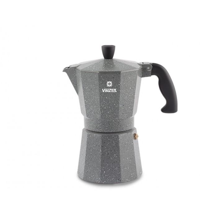 Гейзерная кофеварка Vinzer Moka Granito на 9 чашек (89399)