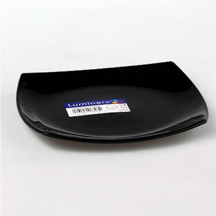 Тарелка десертная LUMINARC QUADRATO BLACK /190 мм (h3670)