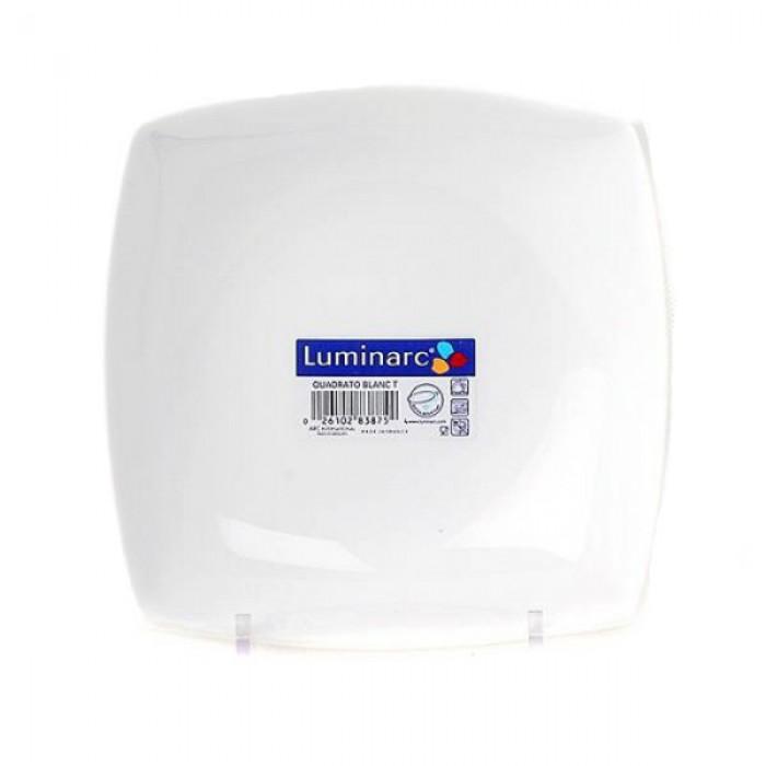 Тарелка суповая LUMINARC QUADRATO WHITE /200 мм (h3659)