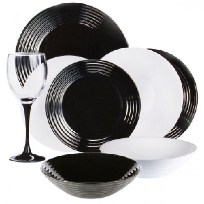Сервиз Luminarc Harena White&Black /24 предмета (n2243)